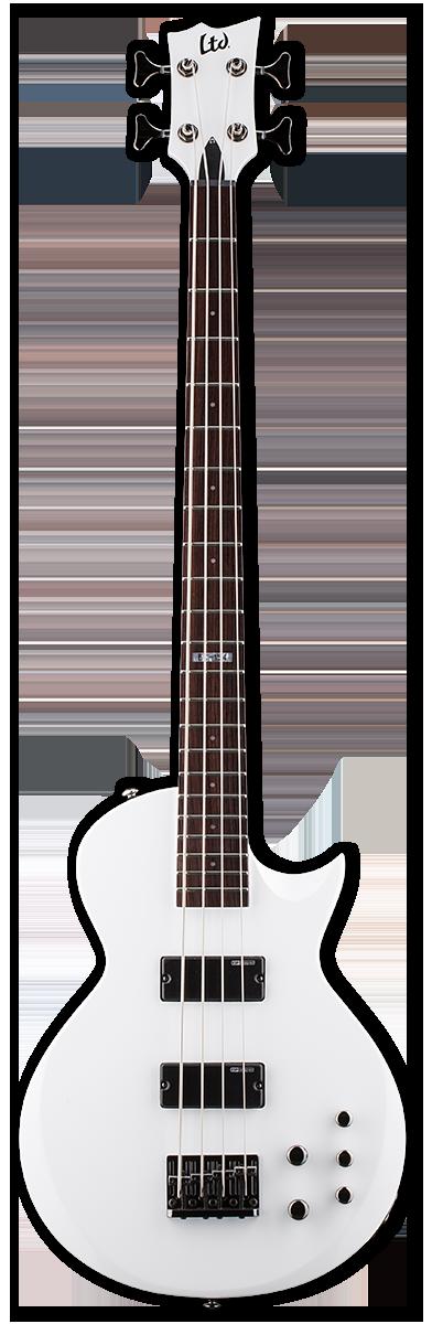 ESP LTD EC-154 Snow White Bass Guitar