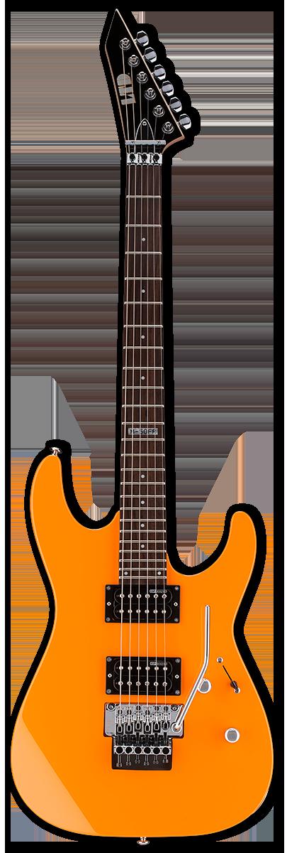 ESP LTD M-50FR Neon Orange Electric Guitar