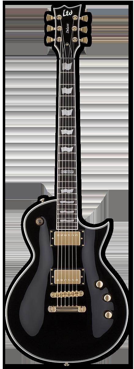 ESP LTD EC-1000T/CTM Dimarzio Black Electric Guitar
