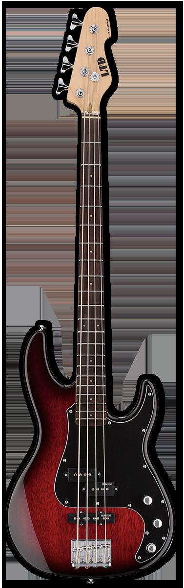 ESP LTD AP-204 Burgundy Burst Bass Guitar
