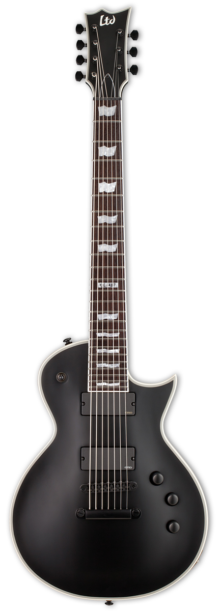 ESP LTD EC-407 Black Satin Electric Guitar