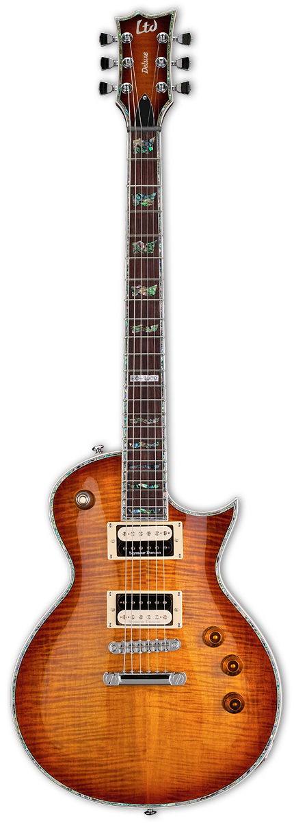 ESP LTD EC-1000 Amber Sunburst Electric Guitar