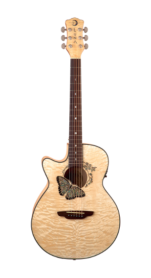 Luna Fauna Butterfly A/E Lefty Gloss Natural - FAU BTFLY LEFTY