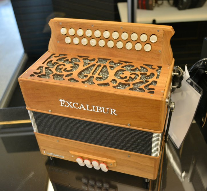 Excalibur Craftsman Button Accordion