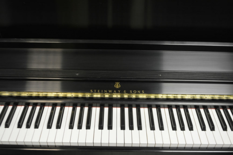 Steinway Model 1908 Upright Piano - Ebony Satin