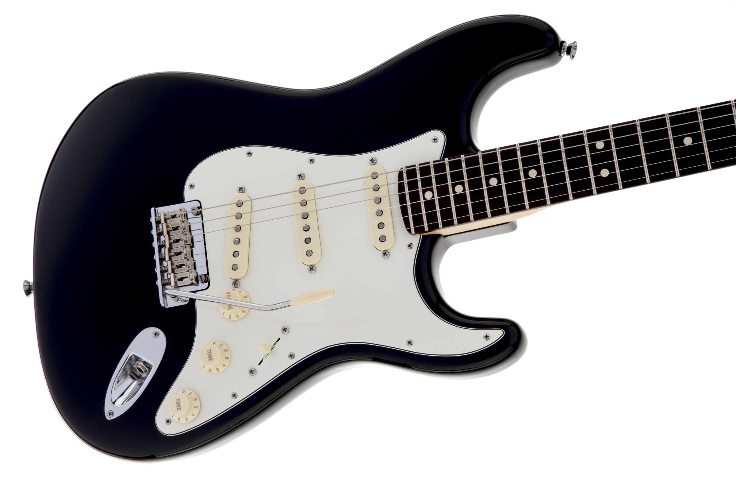 Fender American Standard Stratocaster Black Rosewood Fingerboard Squier Electric Guitar