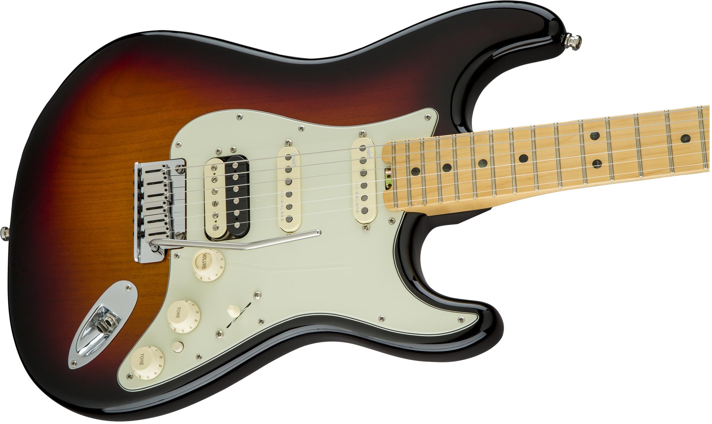 Fender American Elite Stratocaster® HSS Shawbucker 3-Color Sunburst Maple Fingerboard Electric Guitar