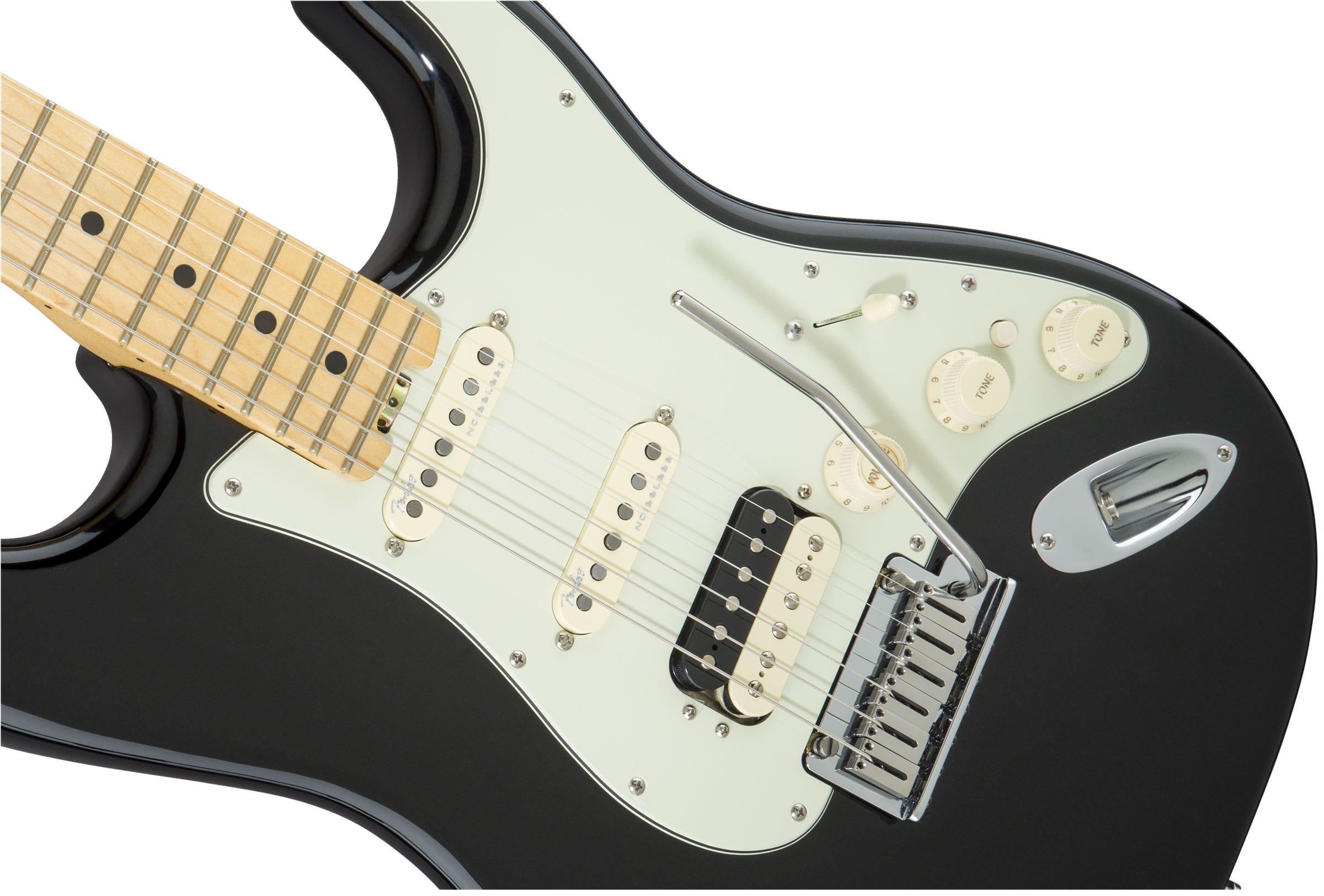 Fender American Elite Stratocaster® HSS Shawbucker Mystic Black Maple Fingerboard Electric Guitar
