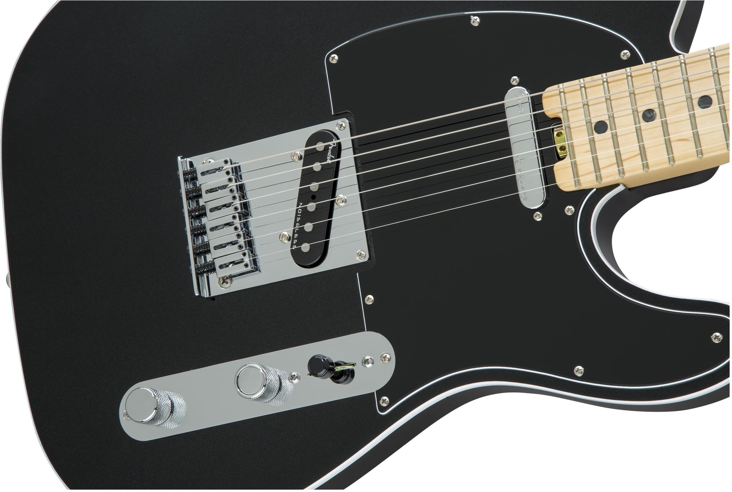 Fender American Elite Telecaster® Mystic Black Maple Fingerboard Electric Guitar