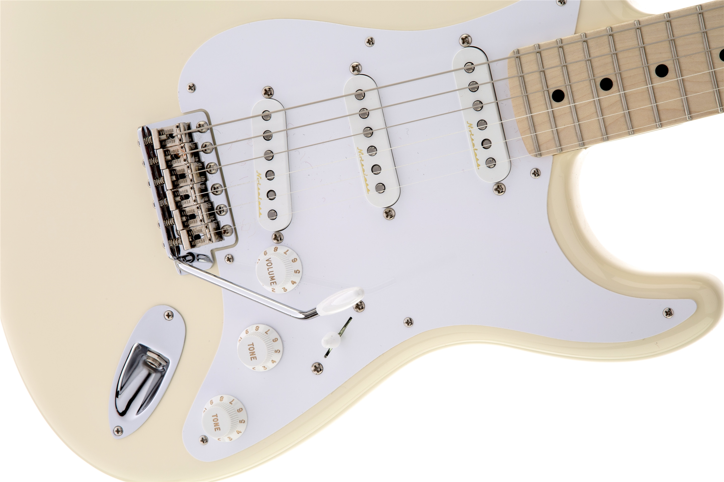 Fender Eric Clapton Stratocaster® Artist Series Olympic White Maple Fingerboard Electric Guitar