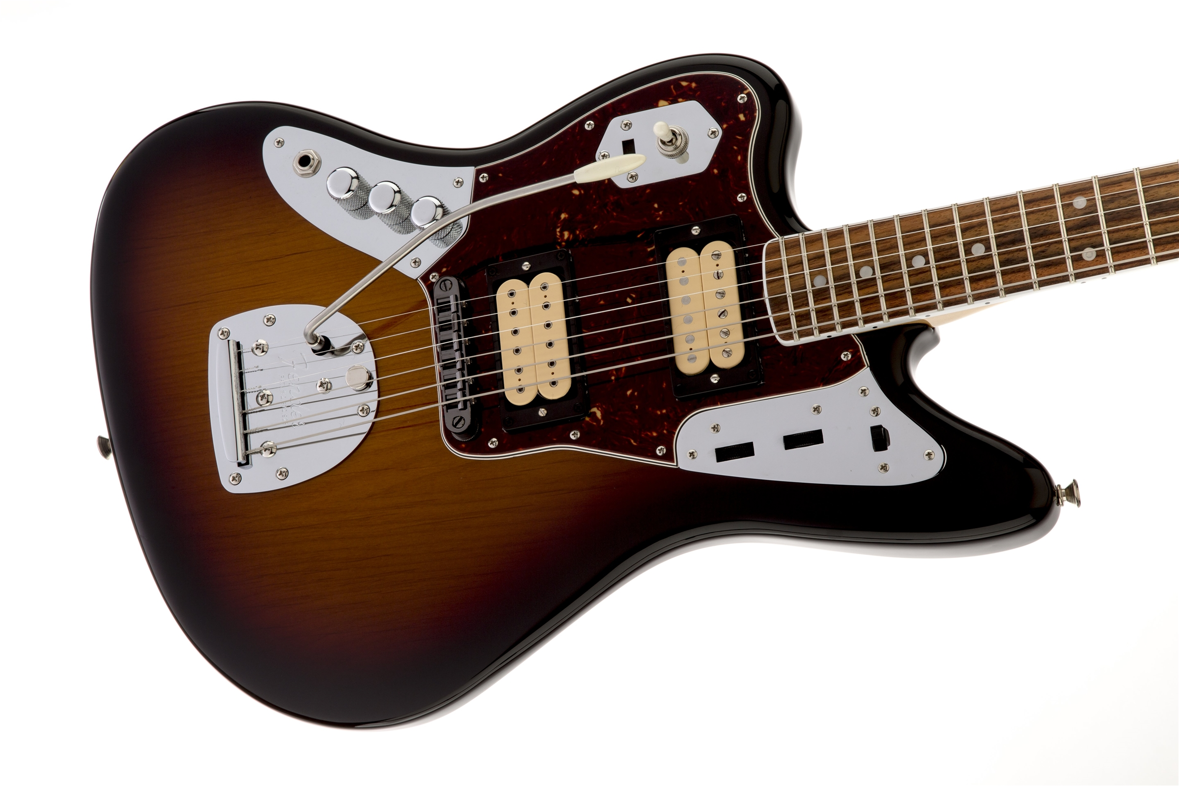 Fender Kurt Cobain Jaguar® Artist Series Left-Hand 3-Color Sunburst Rosewood Fingerboard Electric Guitar