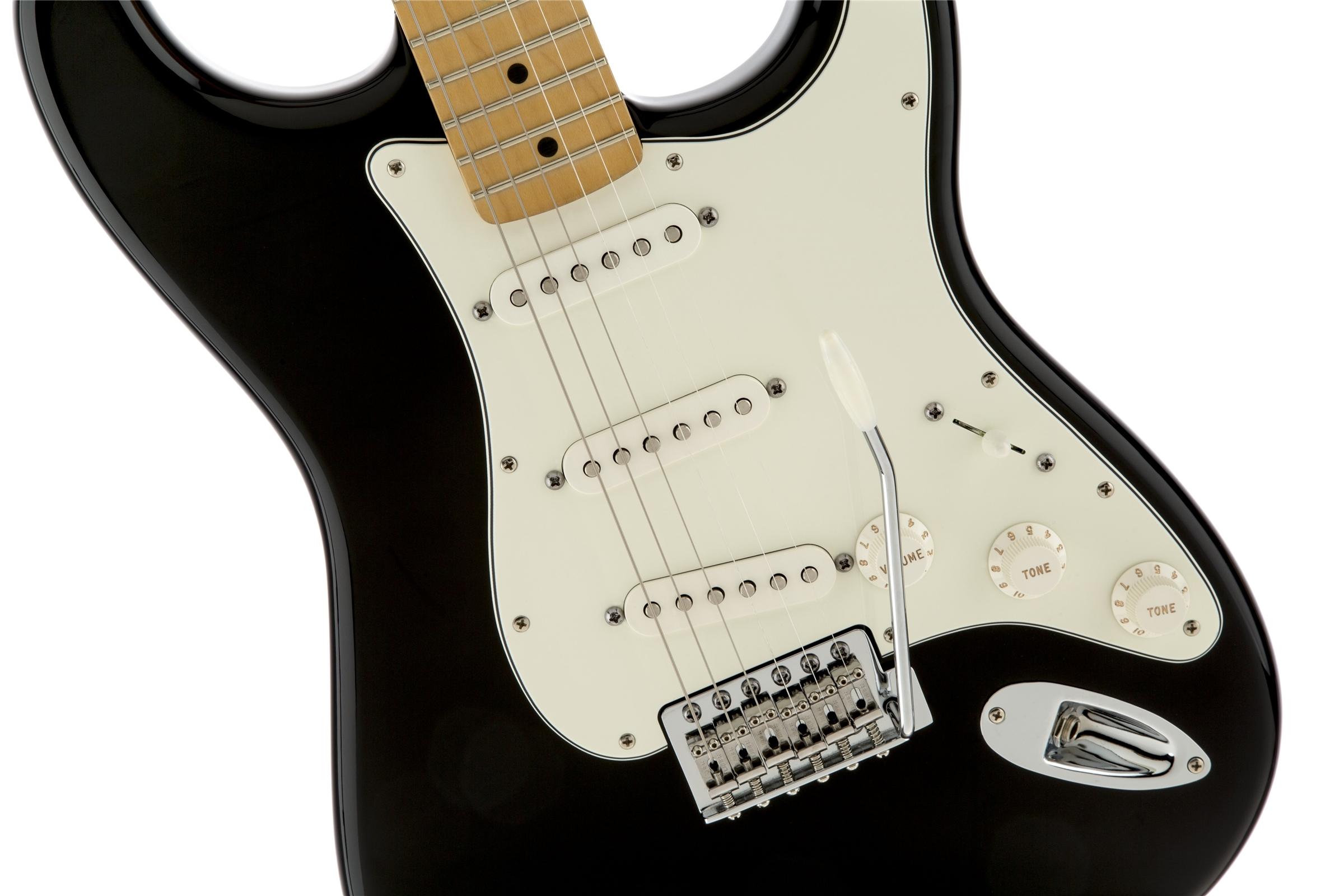 Fender Standard Stratocaster® Black Maple Fingerboard Electric Guitar