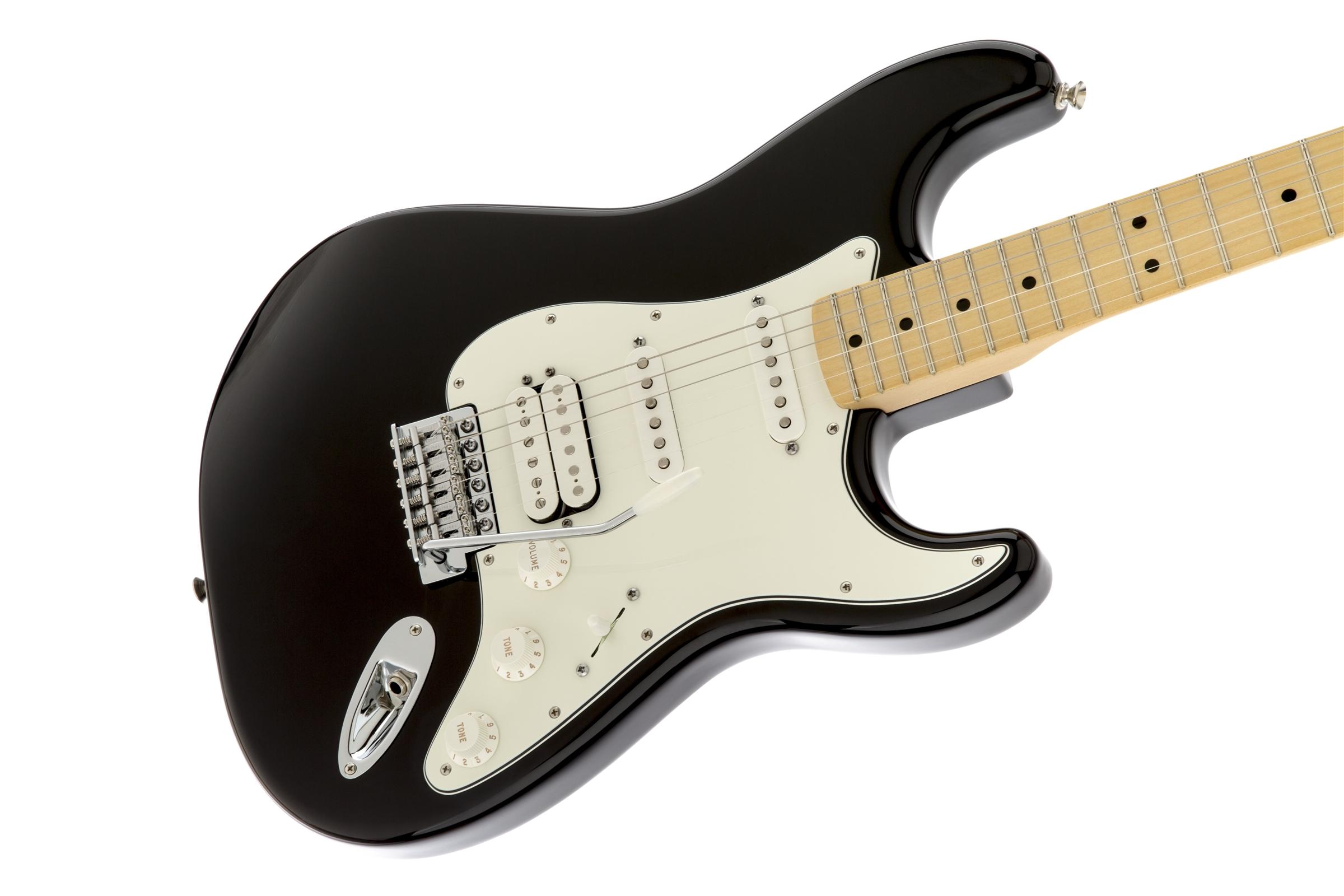 Fender Standard Stratocaster® HSS Black Maple Fingerboard Electric Guitar