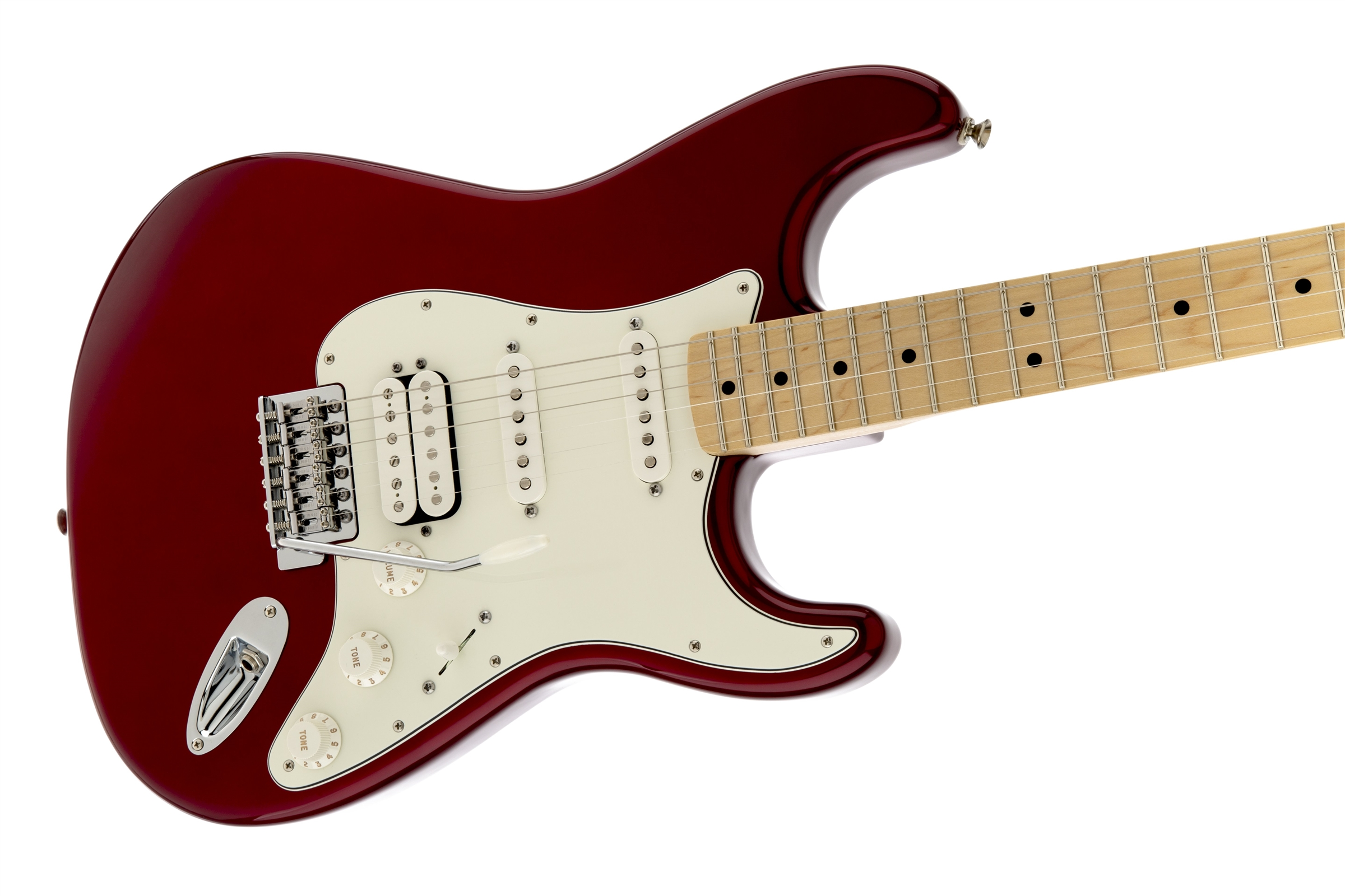 Fender Standard Stratocaster® HSS Candy Apple Red Maple Fingerboard Electric Guitar
