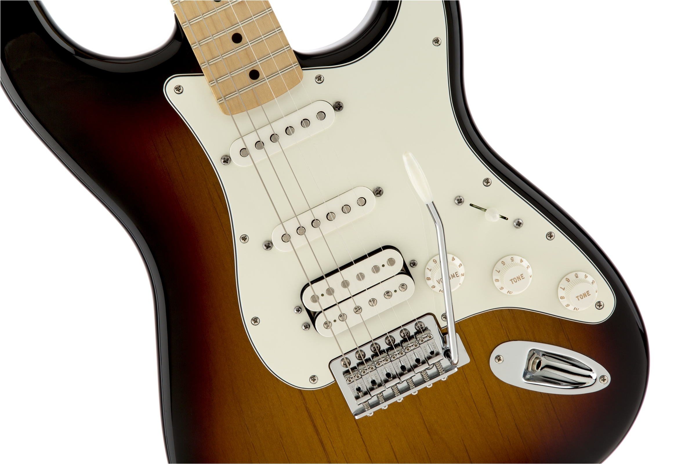 Fender Standard Stratocaster® HSS Brown Sunburst Maple Fingerboard Electric Guitar
