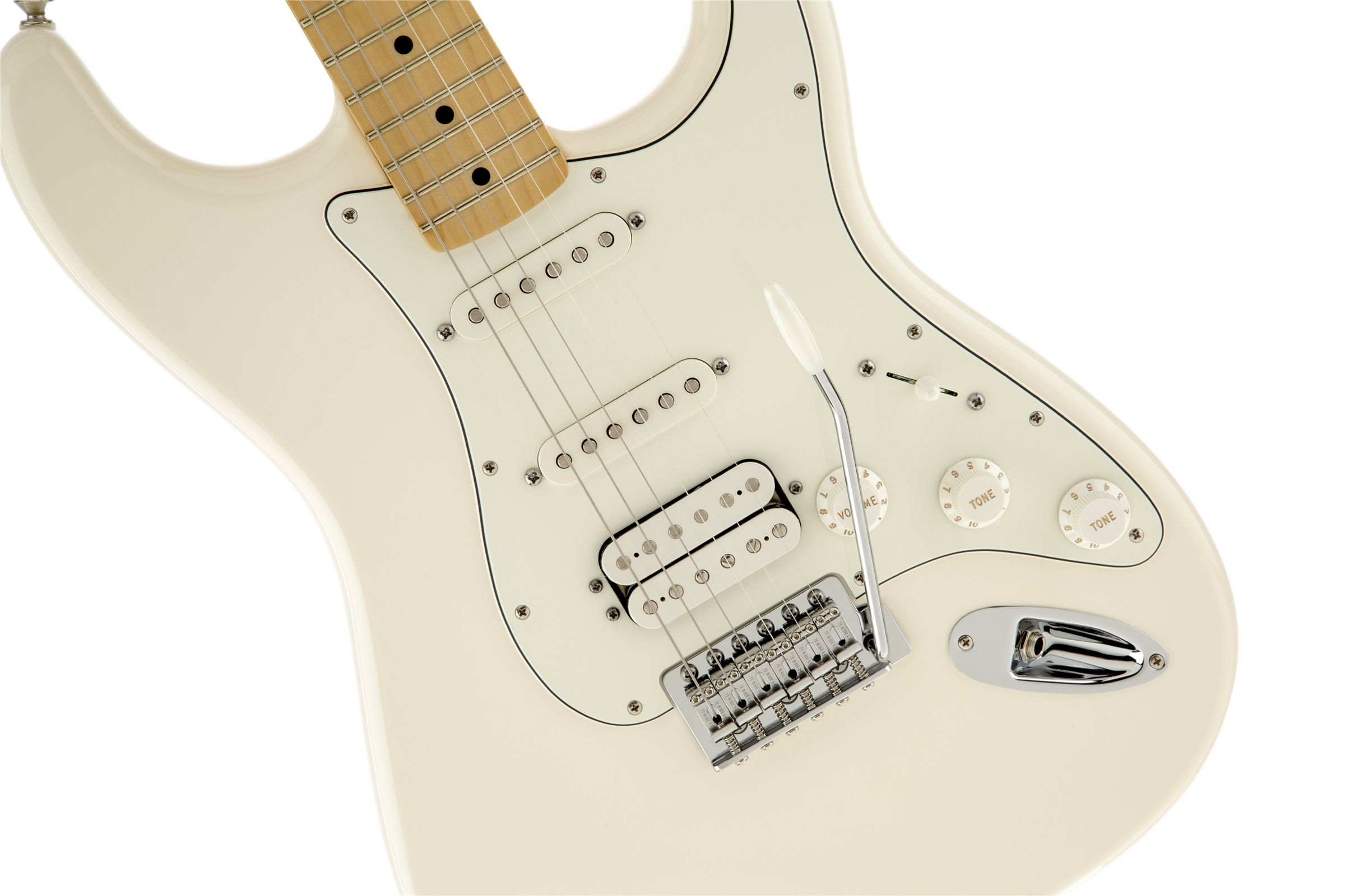 Fender Standard Stratocaster® HSS Arctic White Maple Fingerboard Electric Guitar