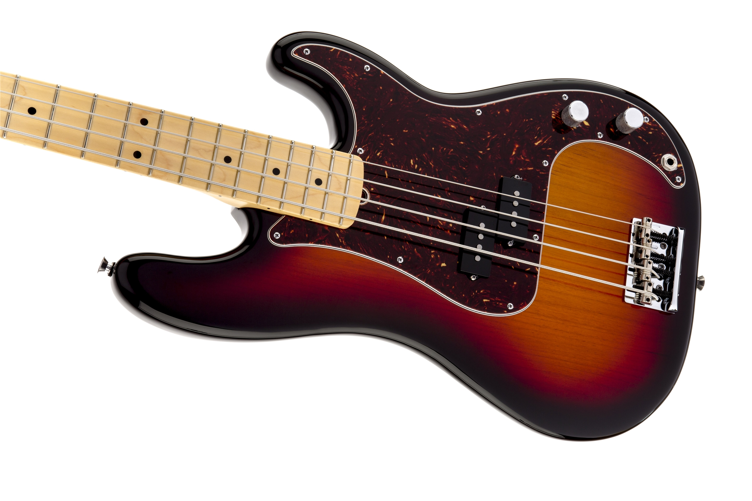 Fender American Standard Precision Bass® 3-Color Sunburst Maple Fingerboard Electric Bass Guitar