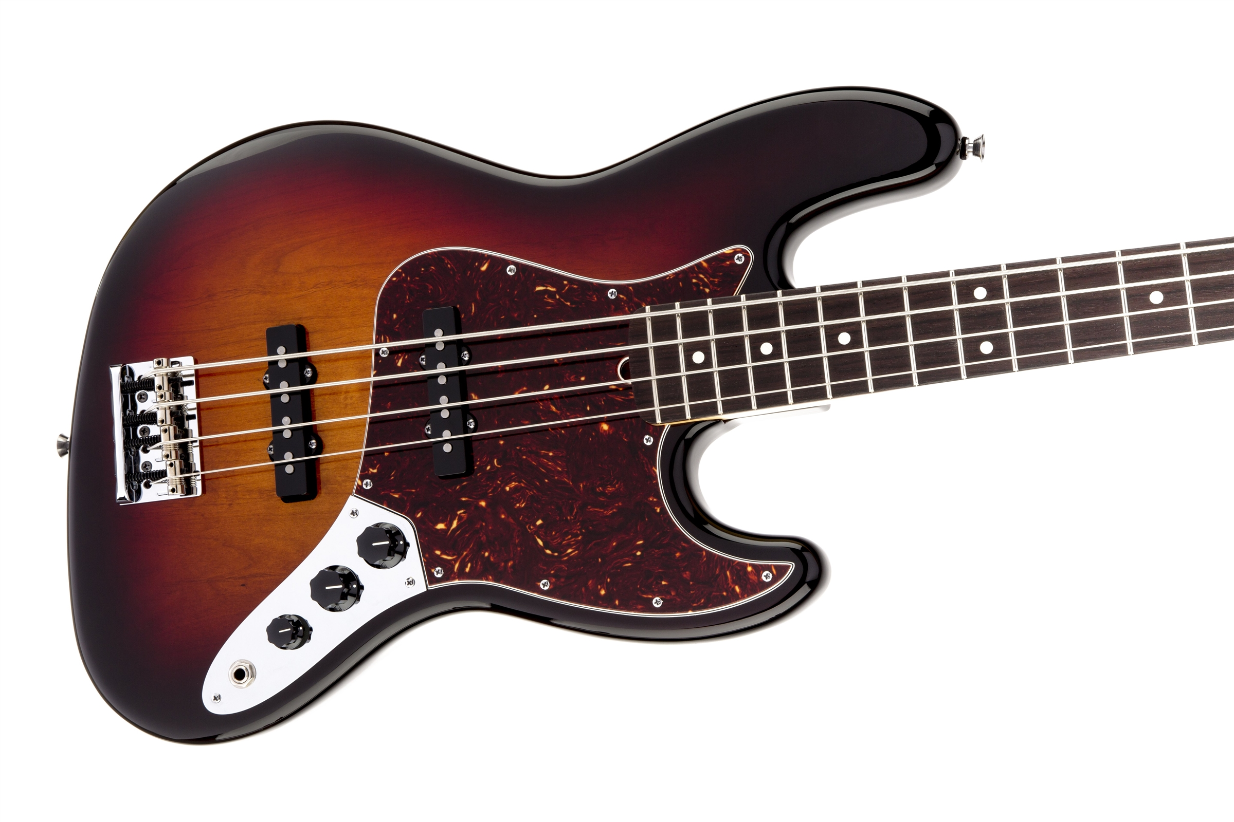 Fender American Standard Jazz Bass® 3-Color Sunburst Rosewood Fingerboard Electric Bass Guitar