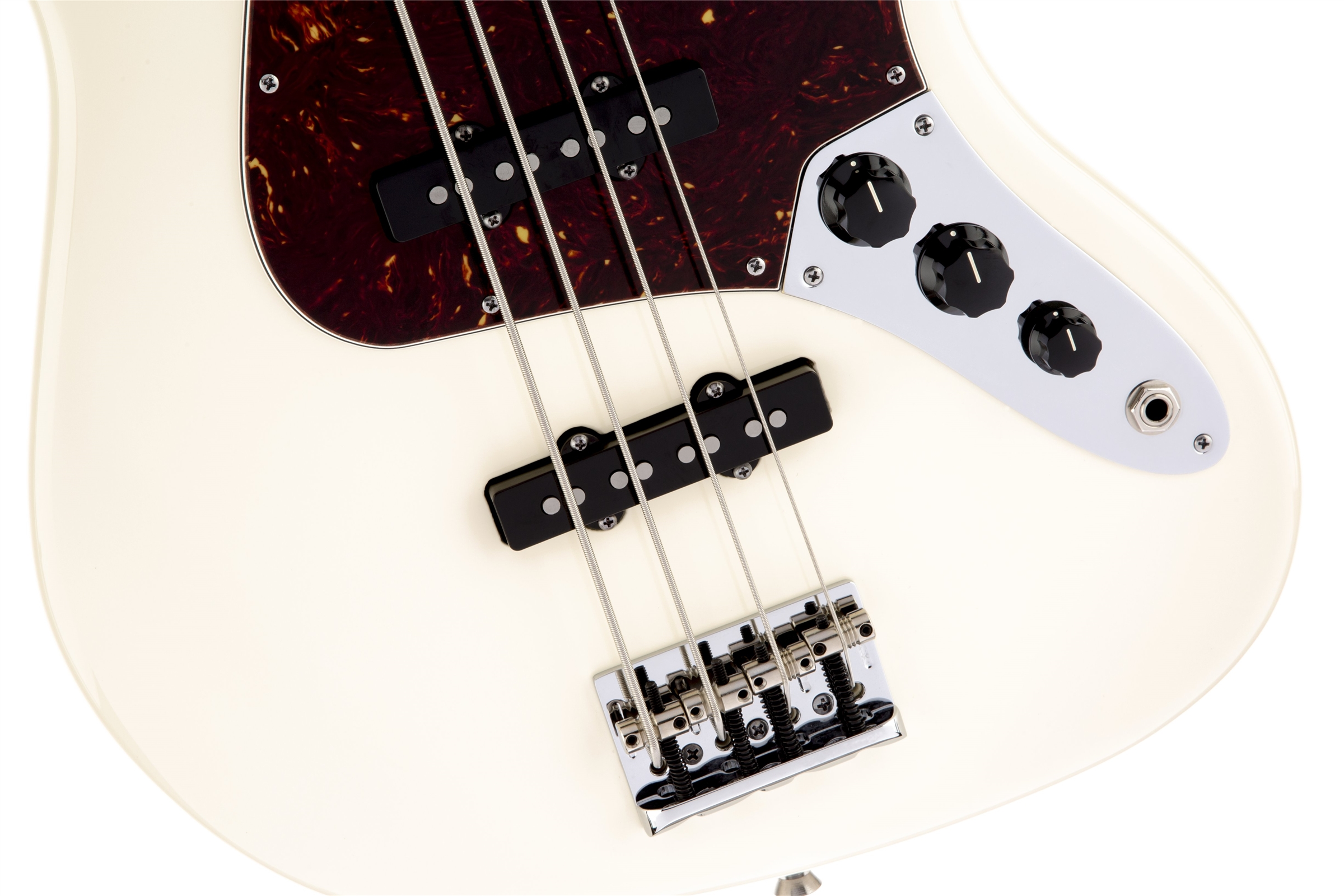 Fender American Standard Jazz Bass® Olympic White Rosewood Fingerboard Electric Bass Guitar