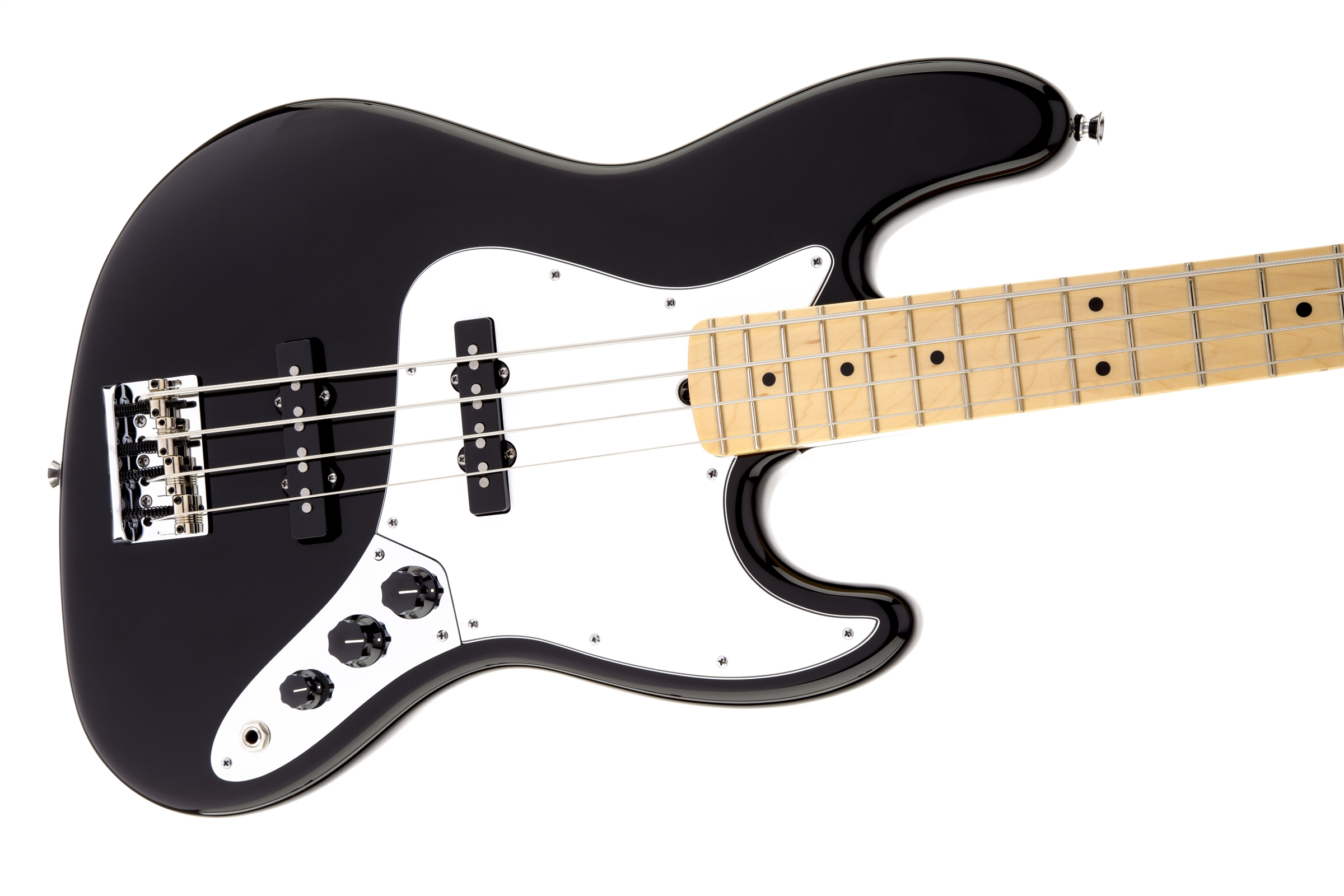 Fender American Standard Jazz Bass® Black Maple Fingerboard Electric Bass Guitar