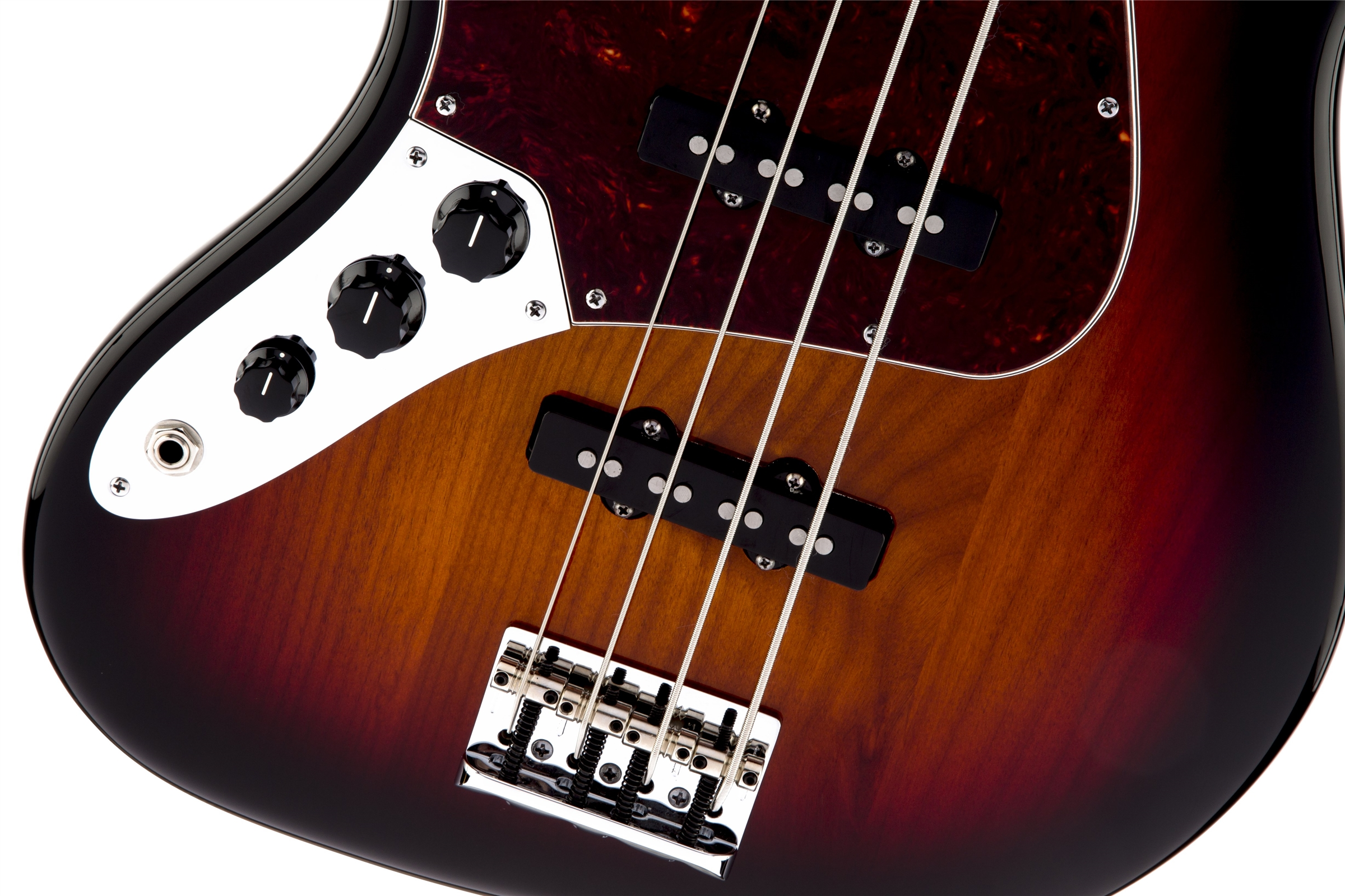 Fender American Standard Jazz Bass® Left-Hand 3-Color Sunburst Rosewood Fingerboard Electric Bass Guitar