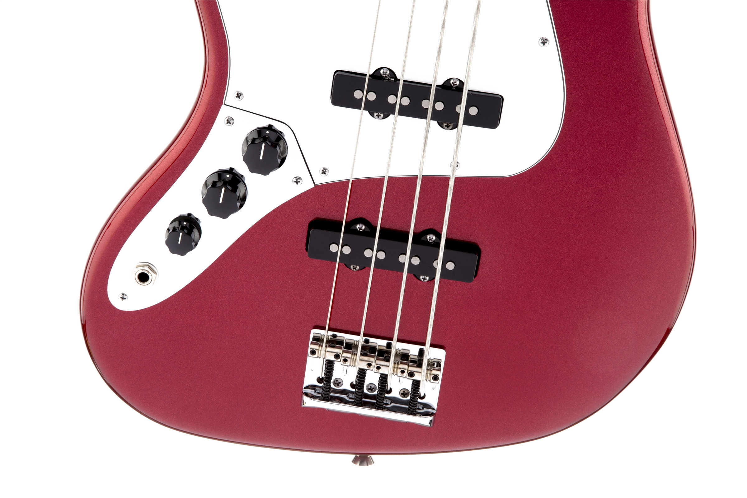 Fender American Standard Jazz Bass® Left-Hand Mystic Red Rosewood Fingerboard Electric Bass Guitar
