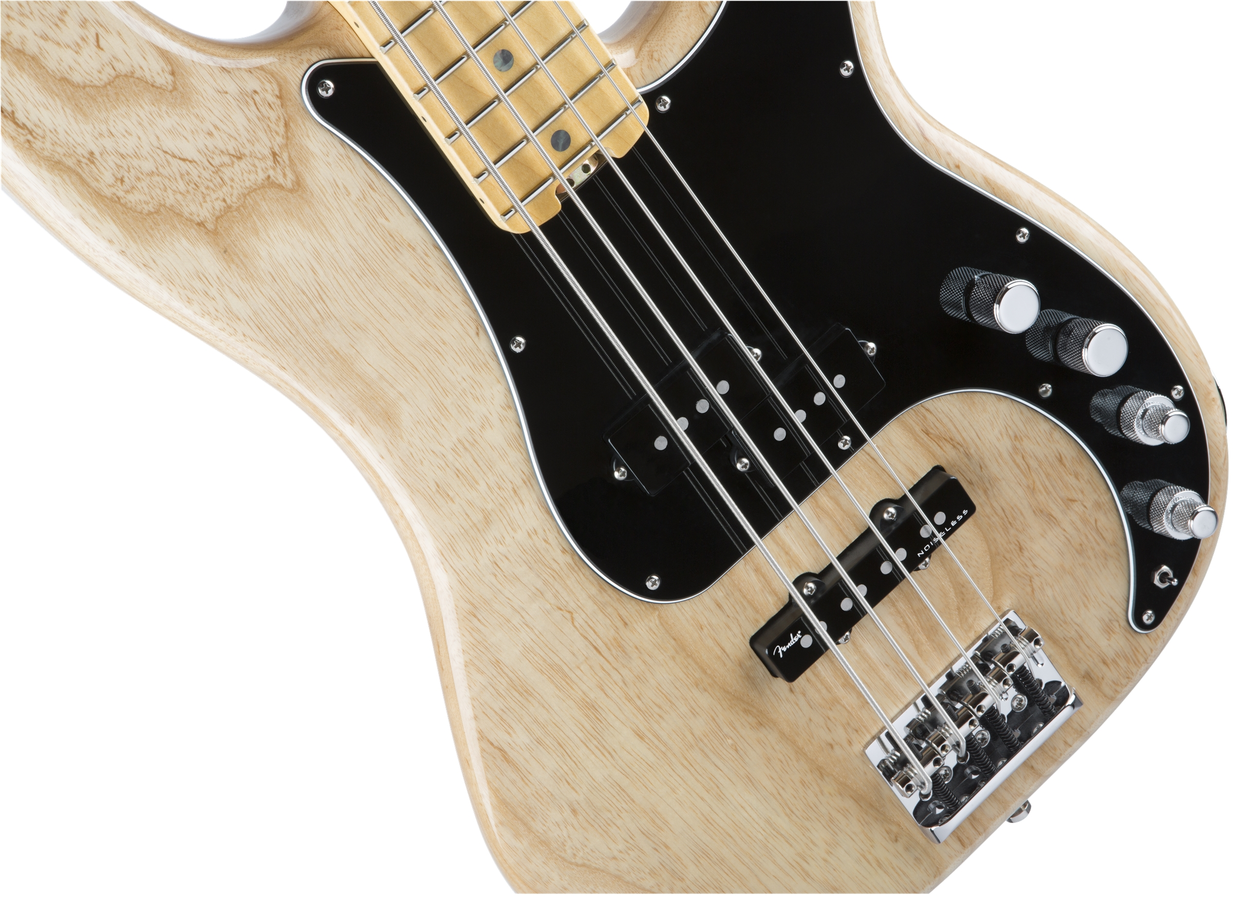 Fender American Elite Precision Bass® Natural Maple Fingerboard Electric Bass Guitar