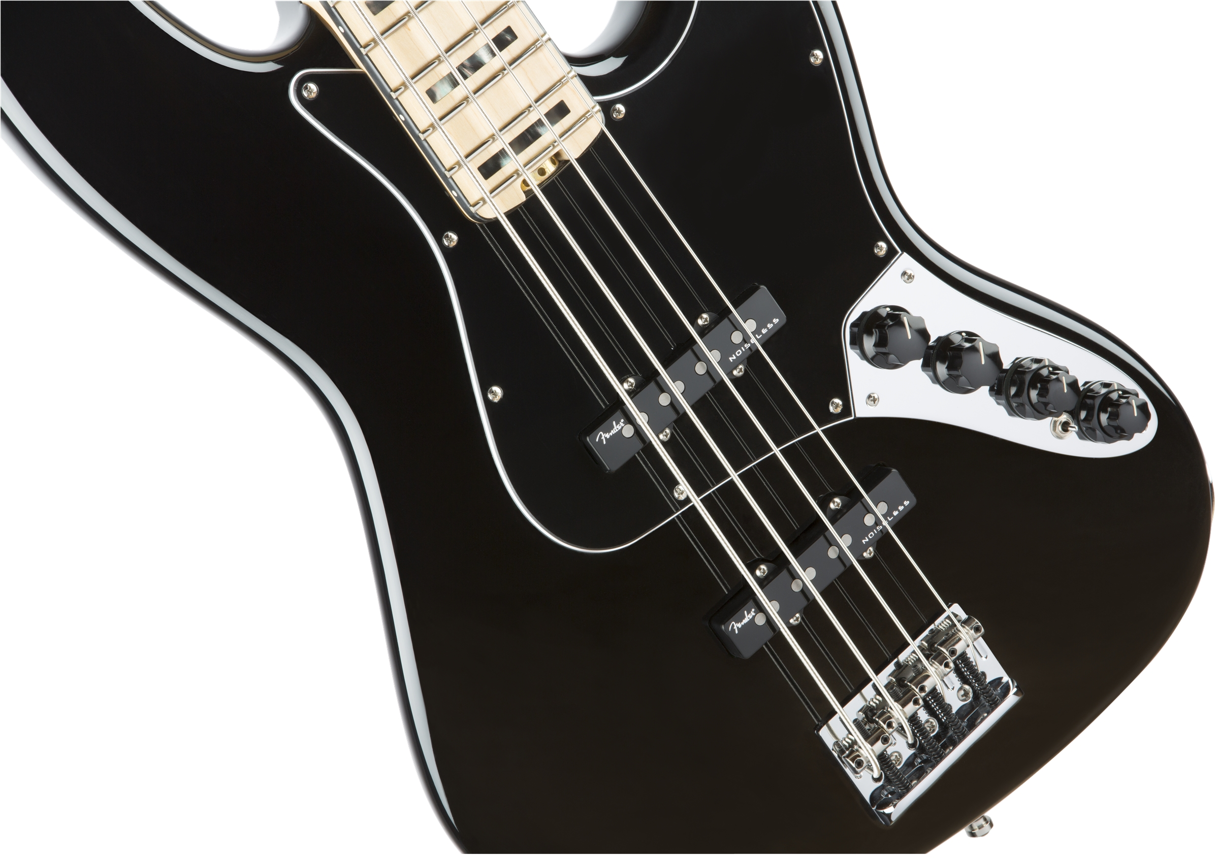 Fender American Elite Jazz Bass® Black Maple Fingerboard Electric Bass Guitar