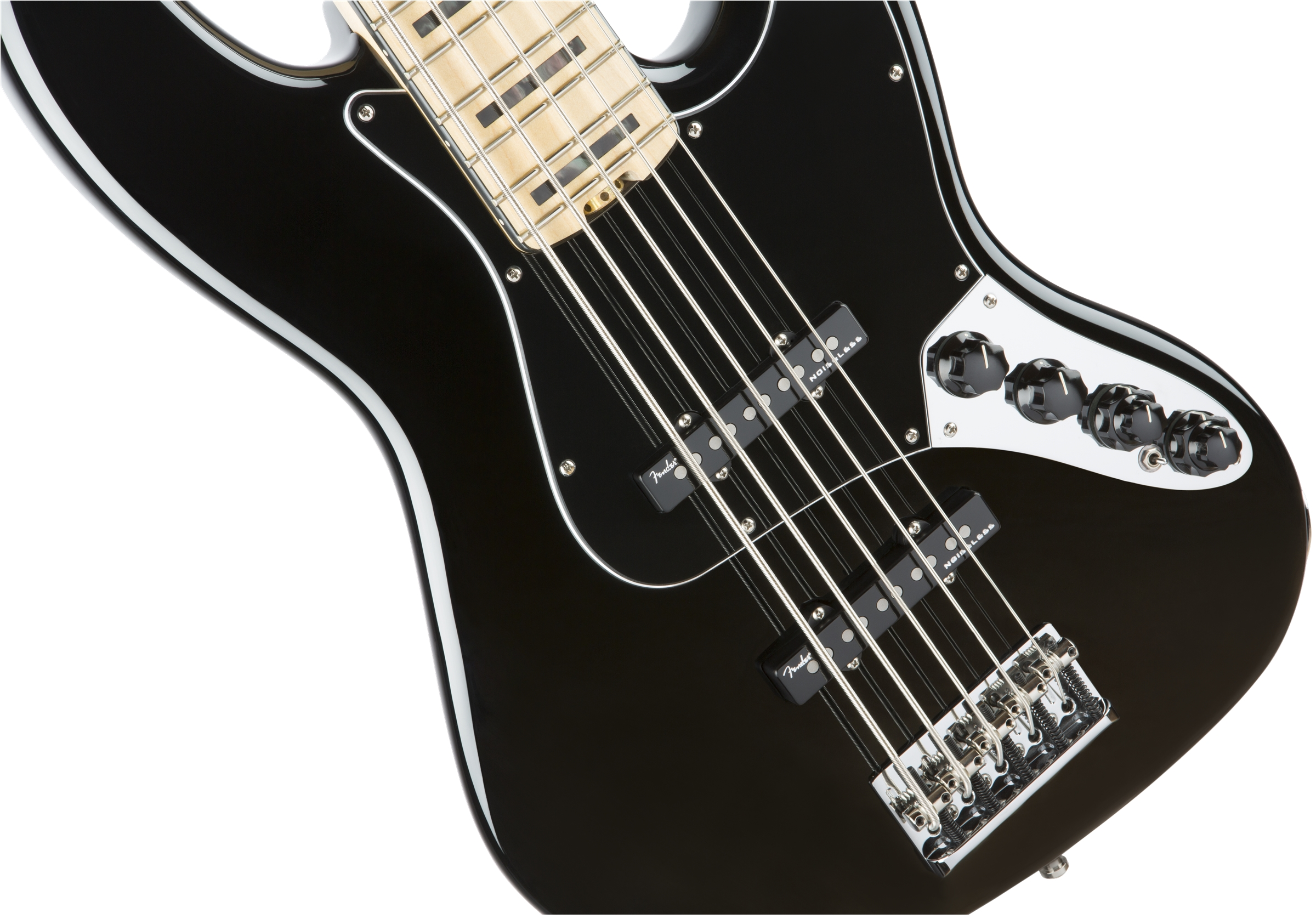 Fender American Elite Jazz Bass® V Black Maple Fingerboard Electric Bass Guitar
