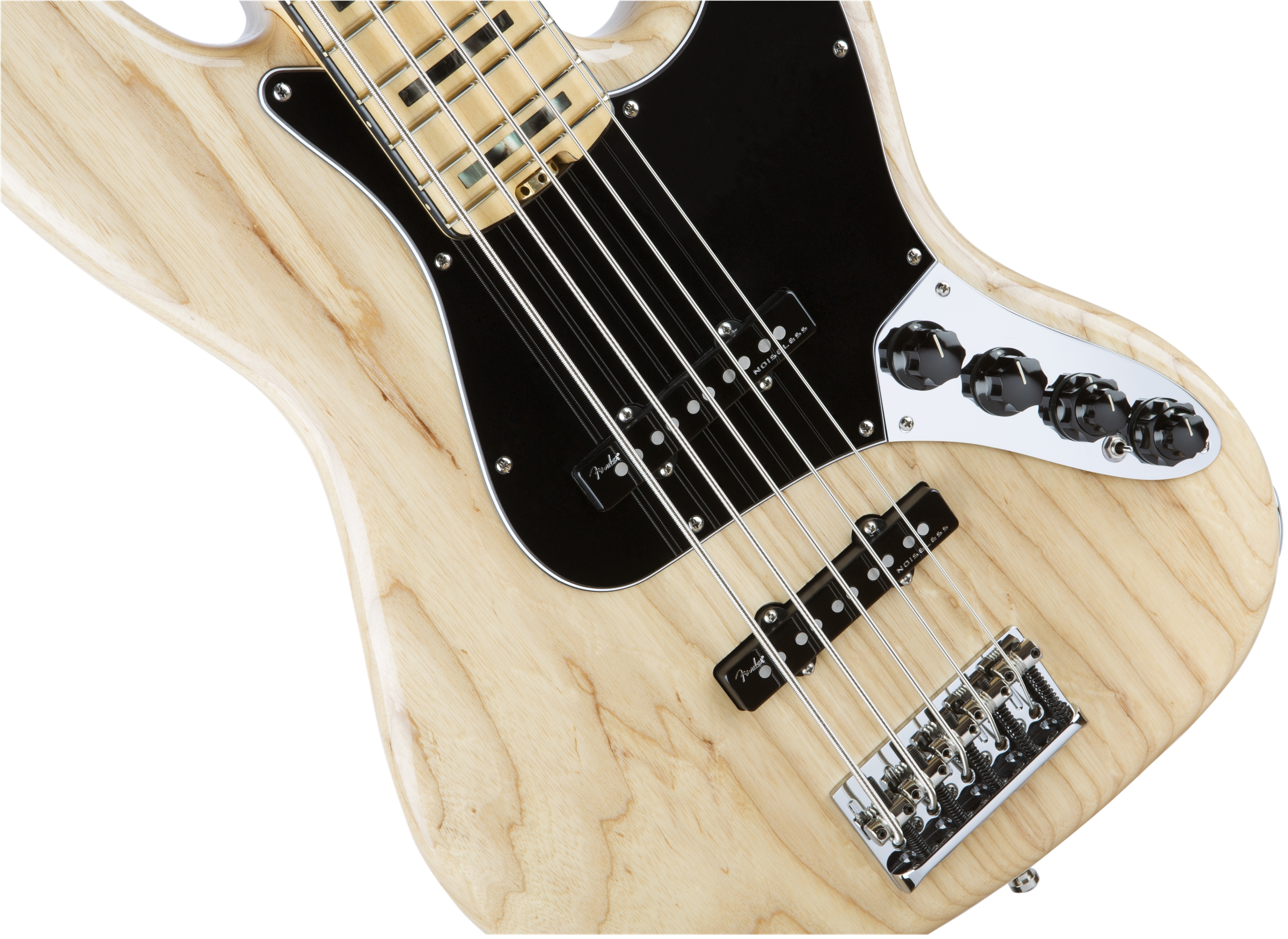 Fender American Elite Jazz Bass® V Natural Maple Fingerboard Electric Bass Guitar