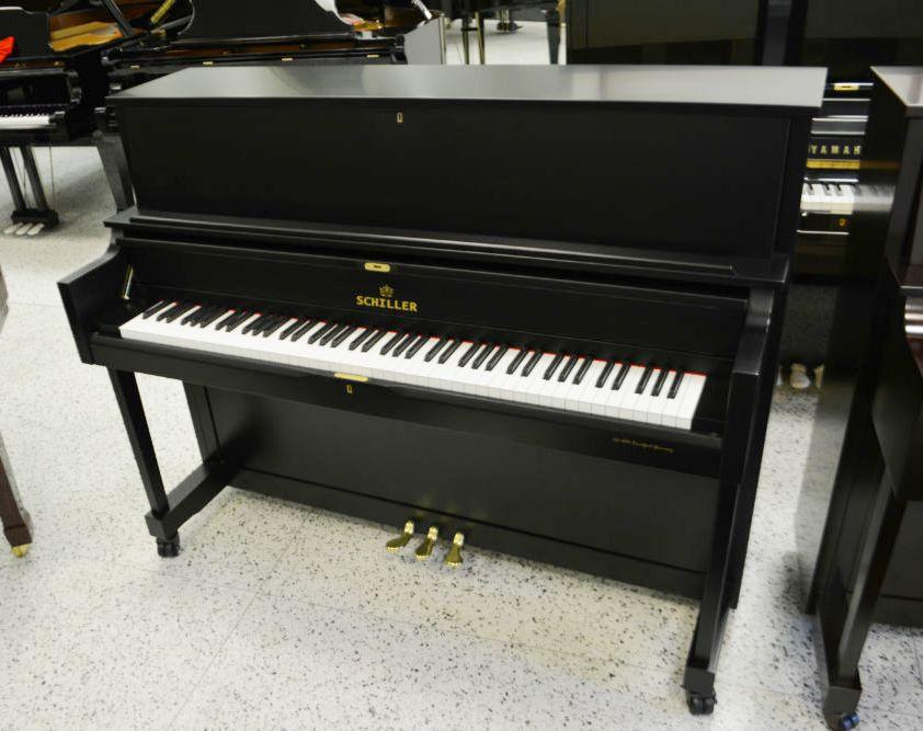 Schiller Performance Frankfurt Upright Piano – Ebony Satin