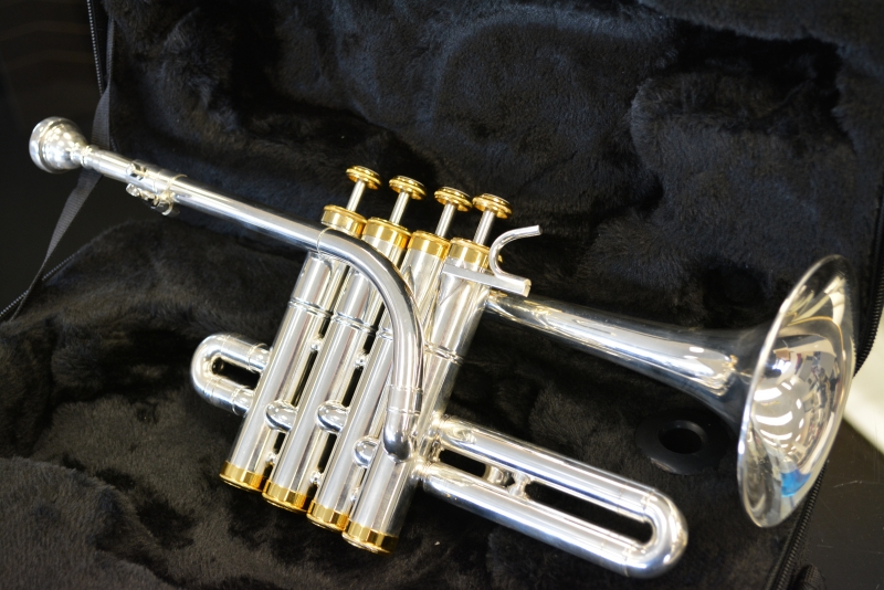 Schiller Model IV Piccolo Trumpet Silver Plated/Gold