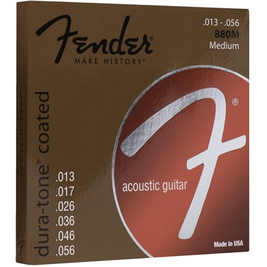 Fender 80/20 COATED ACOUSTIC GUITAR STRINGS - .013-.056