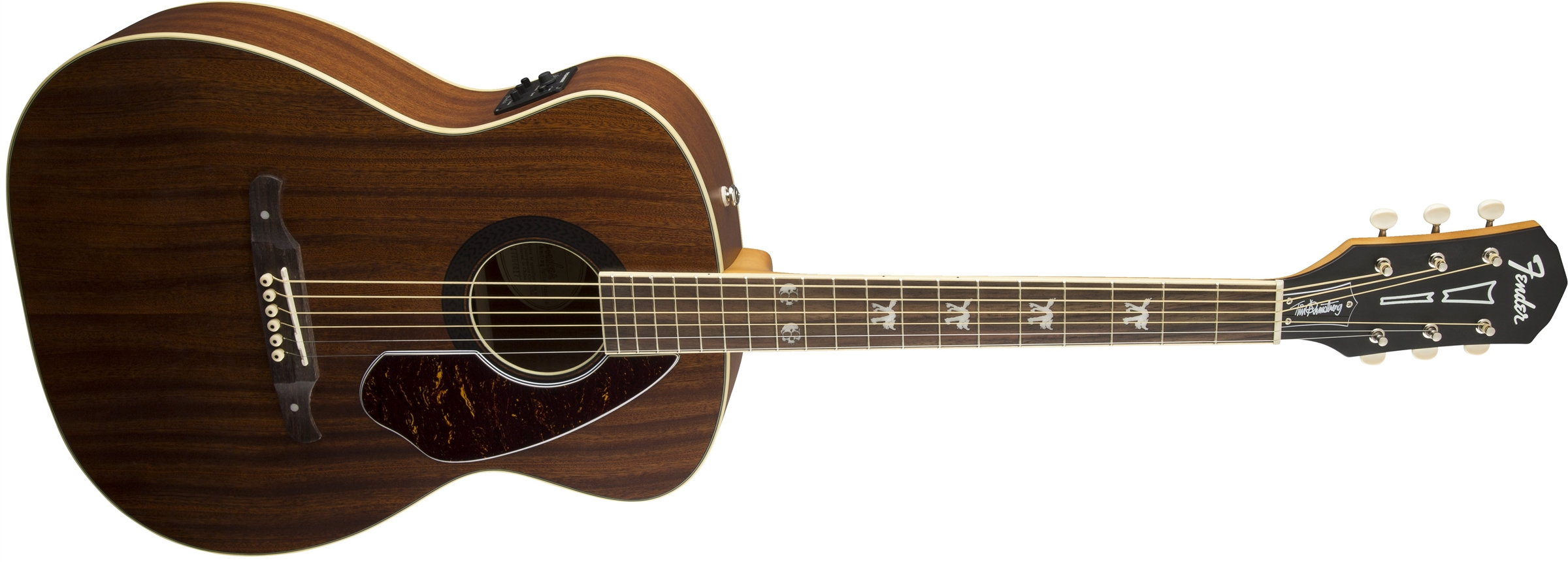 fender tim armstrong hellcat mahogany acoustic electric guitar jim laabs music store. Black Bedroom Furniture Sets. Home Design Ideas