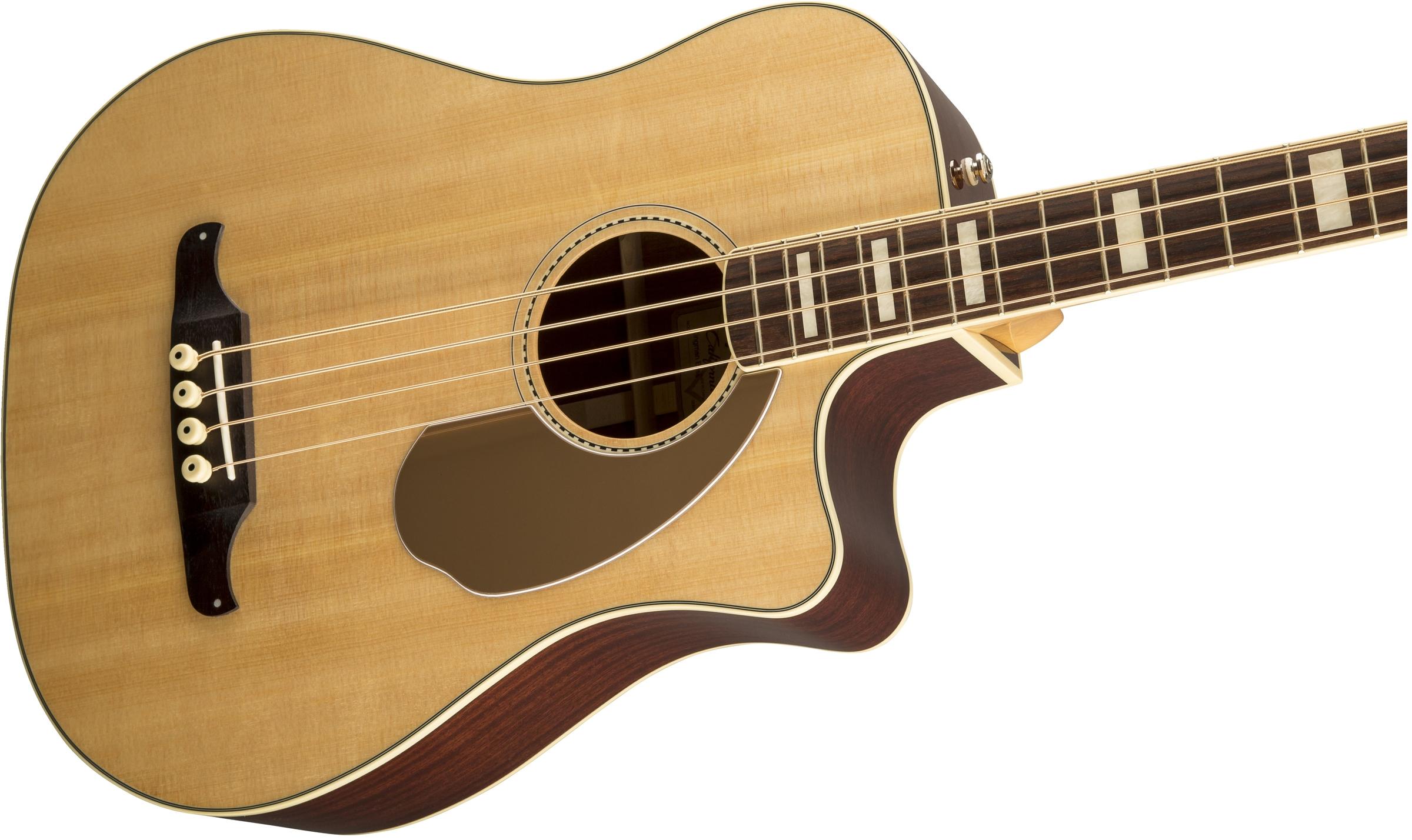 Fender Kingman™ Bass SCE Natural Rosewood Fingerboard Acoustic Electric Bass Guitar