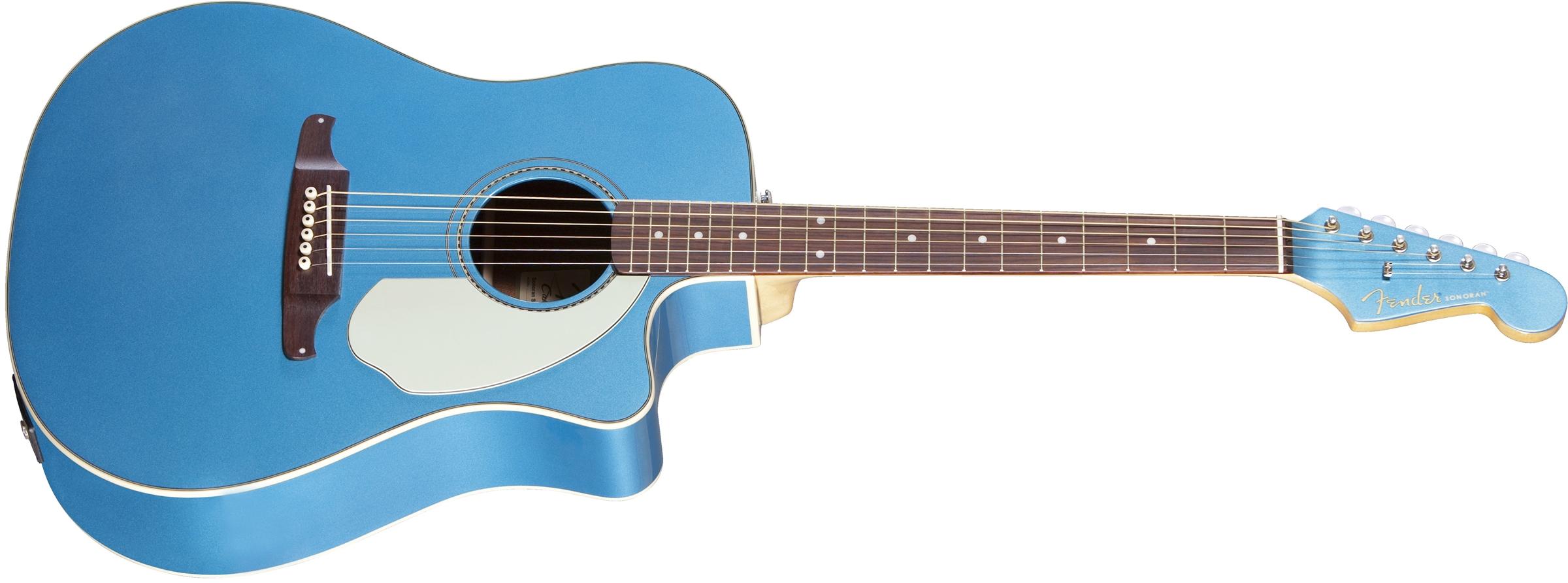 fender sonoran sce lake placid blue cutaway dreadnought acoustic electric guitar jim laabs. Black Bedroom Furniture Sets. Home Design Ideas