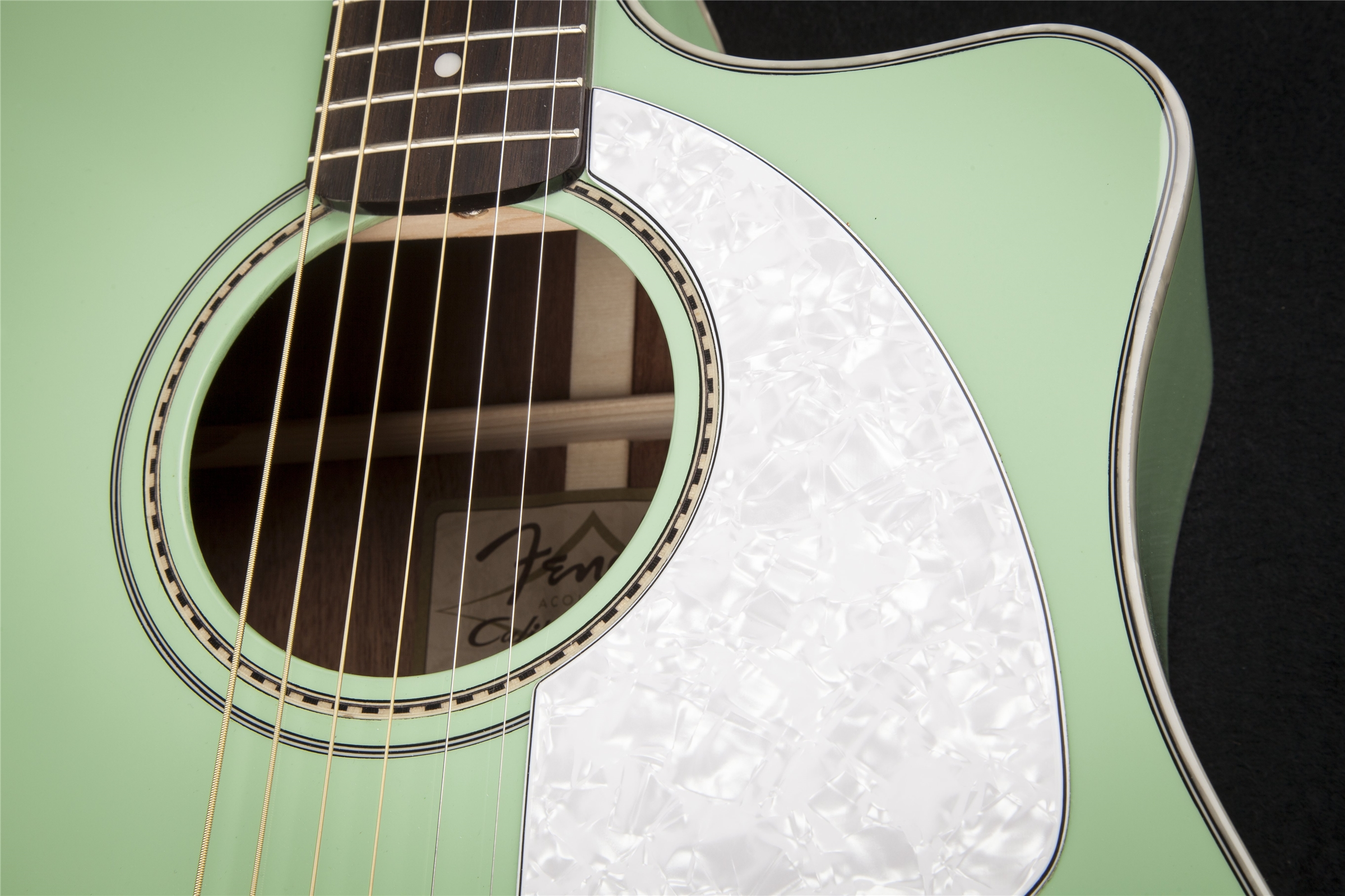 Fender Sonoran™ SCE Sea Green Cutaway Dreadnought Acoustic Electric Guitar