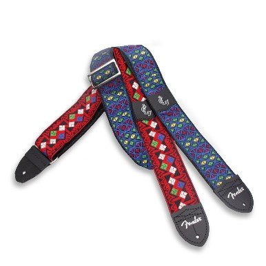 Fender® Eric Johnson Signature Guitar Strap - Red with Multi-Color Pattern