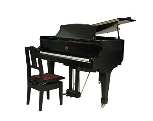 Frederick Adjustable Piano Chair - Ebony Satin