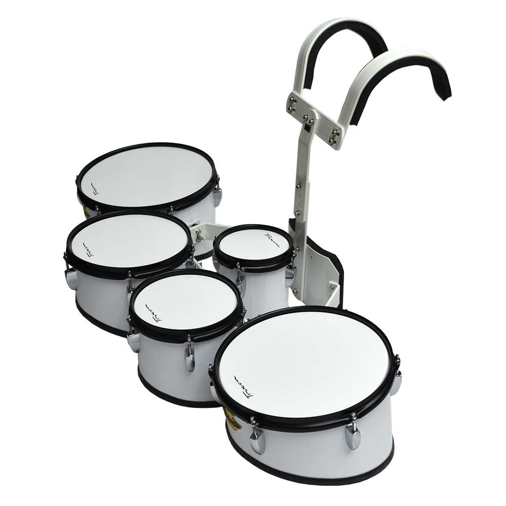 Trixon Field Series II Marching Toms - Set of 5 - White