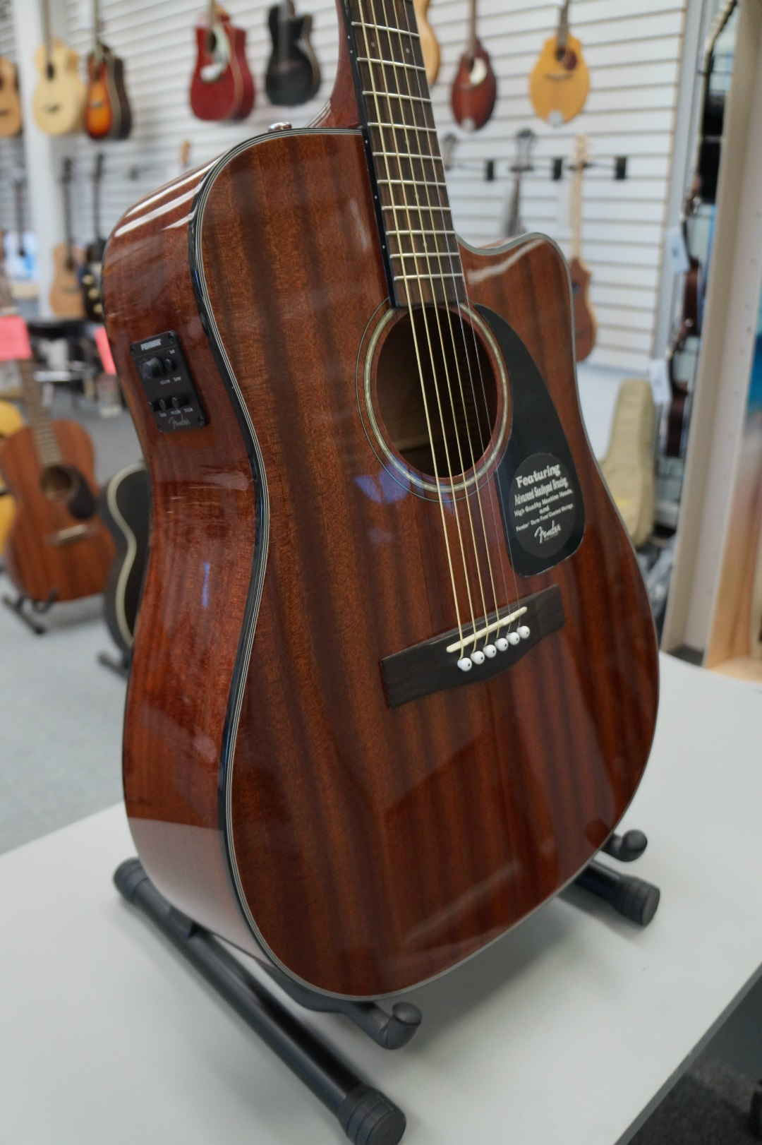 Fender CD-60CE Dreadnought Cutaway Acoustic-Electric Guitar - All Mahogany  - Jim Laabs Music Store