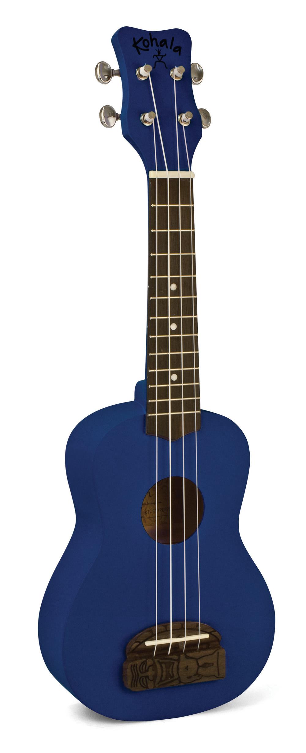 Kohala KT-SBL Tiki Uke Ocean Blue Soprano Ukulele