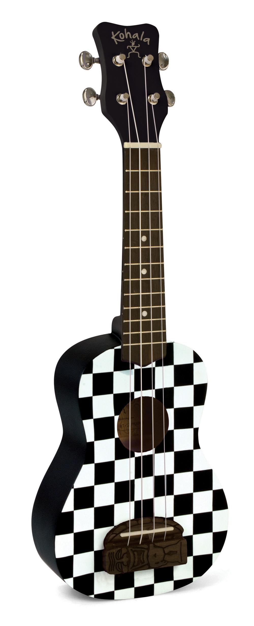 Kohala KT-SCB Tiki Uke Checkerboard Soprano Ukulele