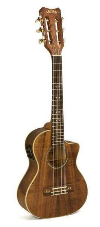Lanikai CK-6EK Curly Koa 6 String Tenor Acoustic Electric Ukulele