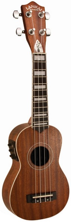 Lanikai UkeSB Mahogany Acoustic Electric Soprano Ukulele