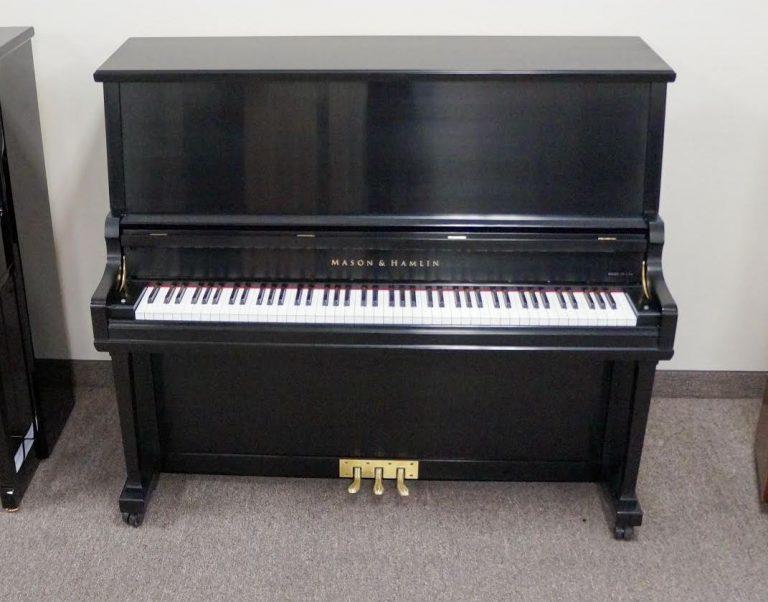 Mason & Hamlin Model 50 Upright Piano Ebony Satin