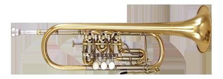Kanstul Model 1506 C Rotary Trumpet