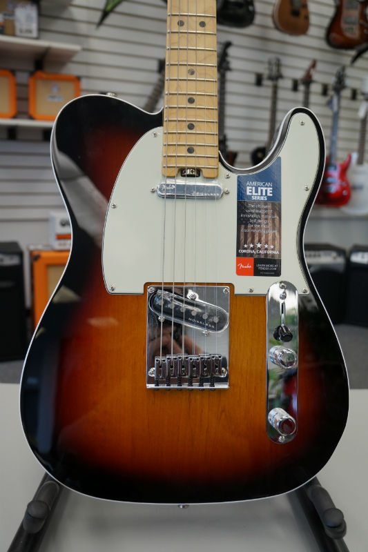 Fender® American Elite Telecaster® Electric Guitar -  3 Color Sunburst