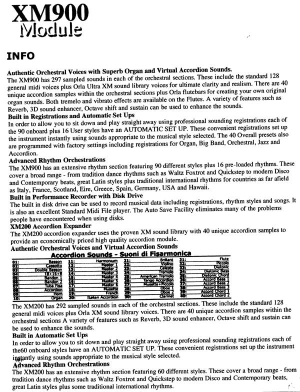Orla XM900 Arranger Module