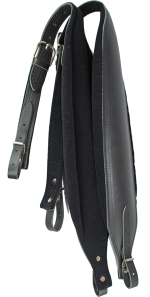 Excalibur Elephant Black Leather with Velvet Padding